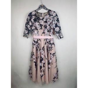 BHLDN Linden Belted Dress